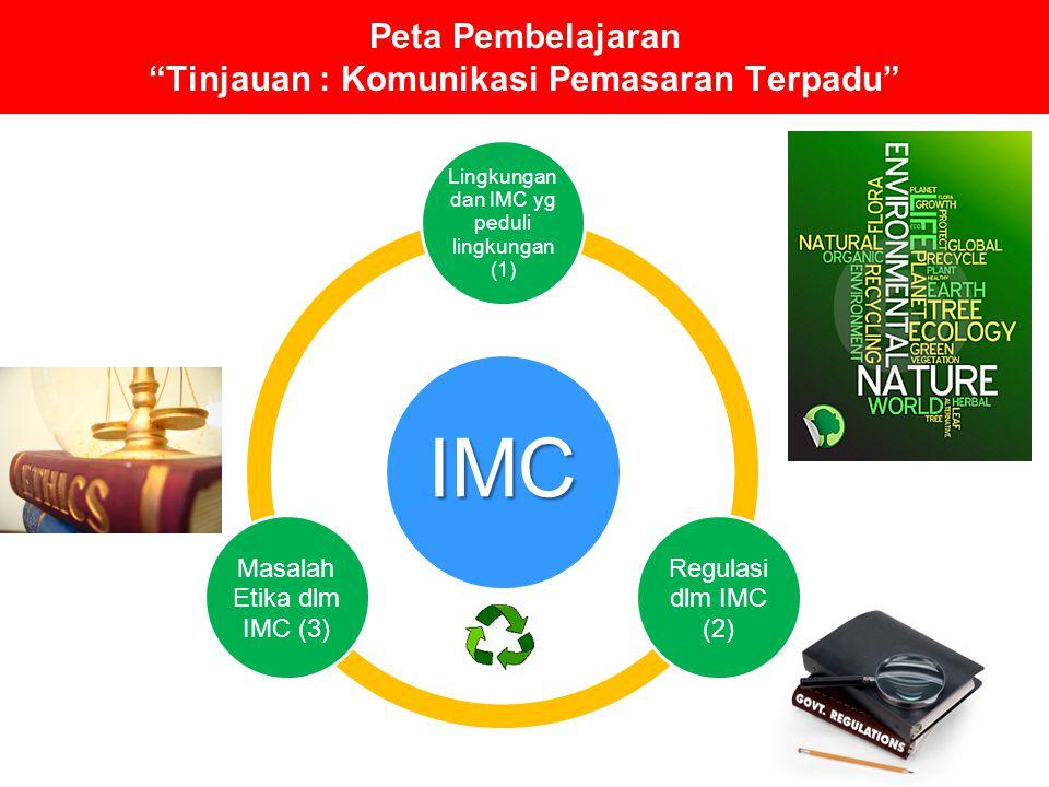 """Peta Pembelajaran """"Tinjauan : Komunikasi Pemasaran Terpadu"""" IMC Lingkungan dan IMC yg peduli lingkungan (1) Regulasi dlm IMC (2) Masalah Etika dlm IMC"""
