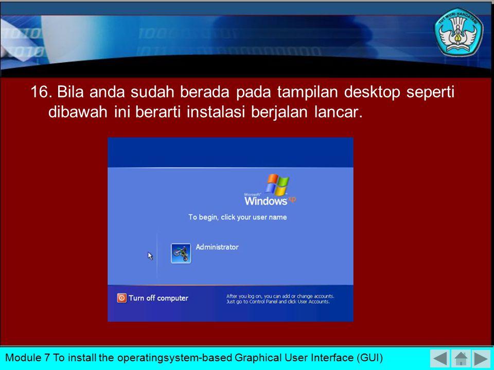 15. Typical setting : pada option ini settingan jaringan akan dibuat default Windows dan Custom setting : untuk mensetting jaringan anda secara manual