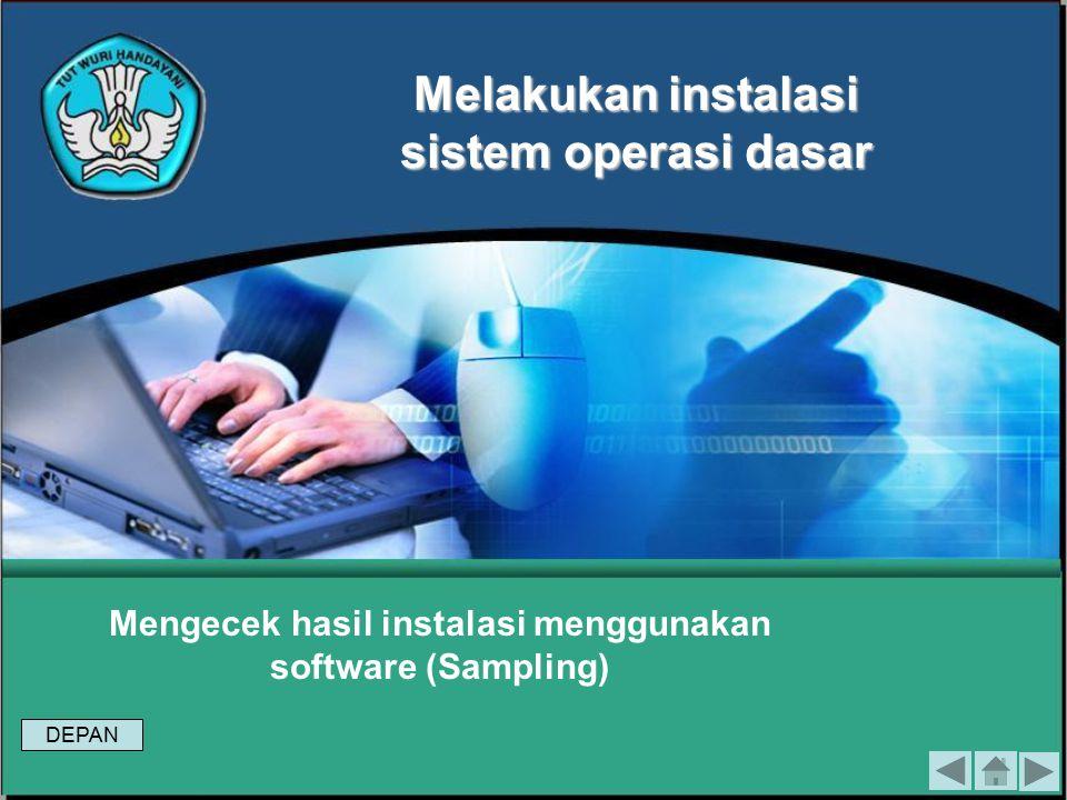 Tes Formatif 2 1.Jelaskan Langkah dalam melaksanakan instalasi sistem operasi berbasis GUI sesuai Installation Manual ! 2.Bagaimanakah keamanan Window