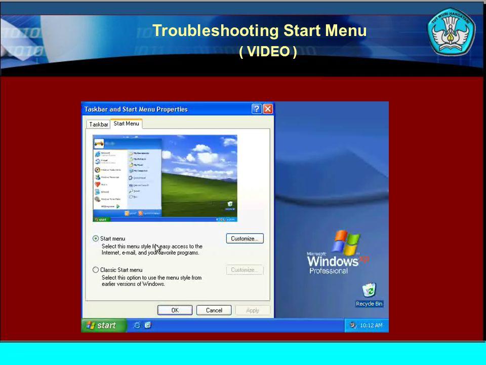 Troubleshooting Folder Option ( VIDEO )