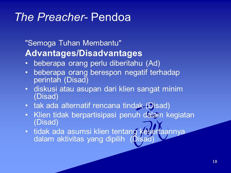 18 The Preacher- Pendoa