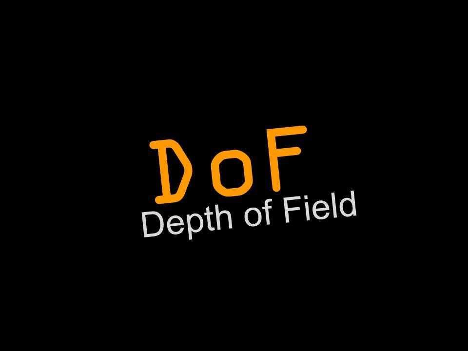 (Depth of Field) DoF ...adalah area di mana obyek akan tetap terlihat fokus yang tajam. Focus  terlihat tajam Out of focus  tidak terlihat tajam *