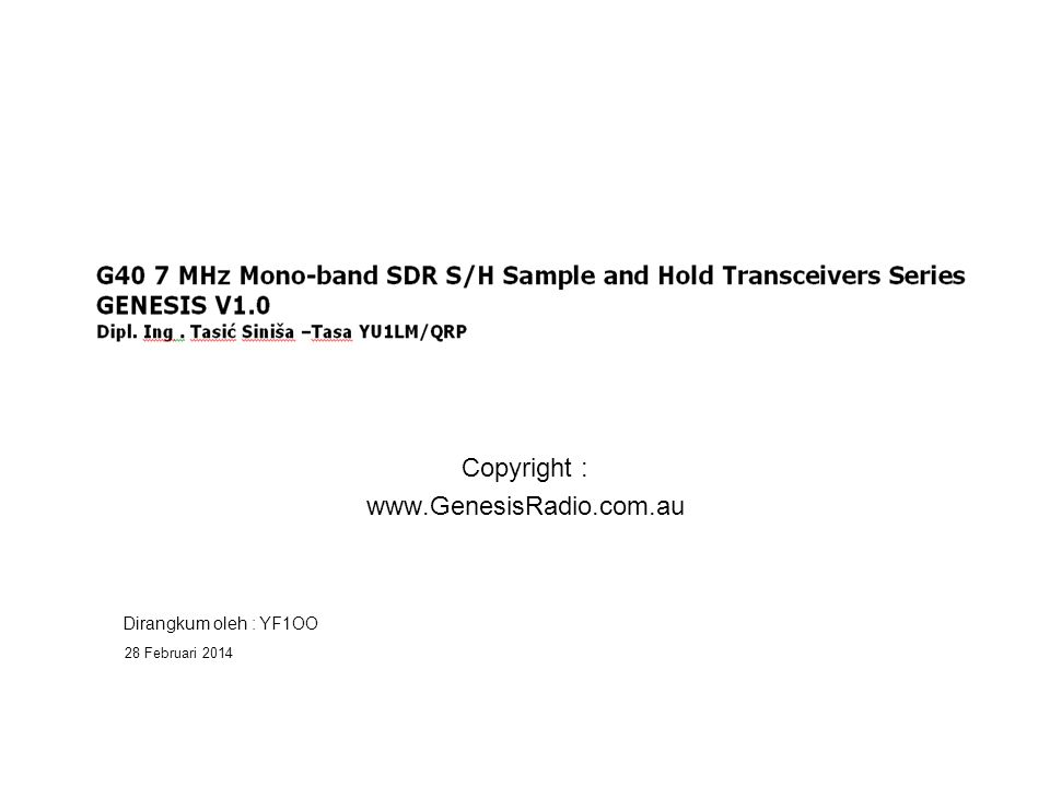 Rx/Tx Kontrol, dan CW Tone Monitor. Tone Monitor