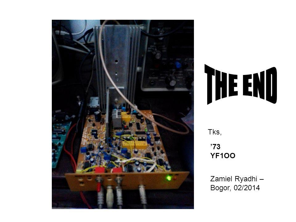 '73 YF1OO Zamiel Ryadhi – Bogor, 02/2014 Tks,