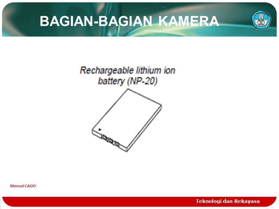 BAGIAN-BAGIAN KAMERA Teknologi dan Rekayasa Manual CASIO