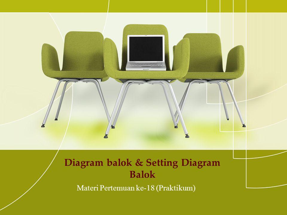 Diagram balok & Setting Diagram Balok Materi Pertemuan ke-18 (Praktikum)