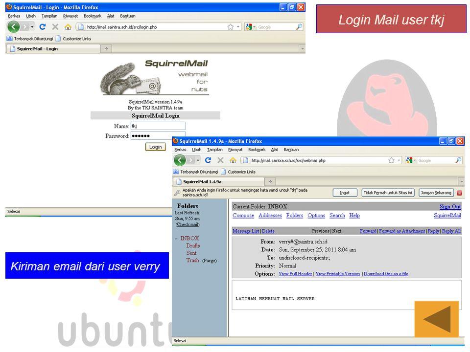 Login Mail user tkj Kiriman email dari user verry