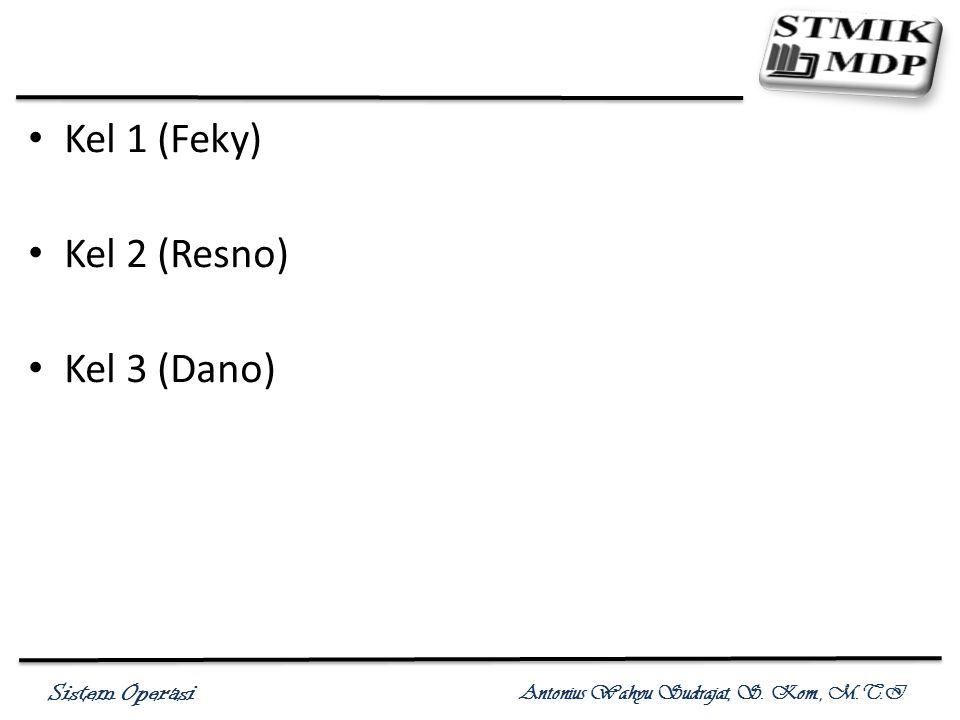 Sistem Operasi Antonius Wahyu Sudrajat, S. Kom., M.T.I Kel 1 (Feky) Kel 2 (Resno) Kel 3 (Dano)