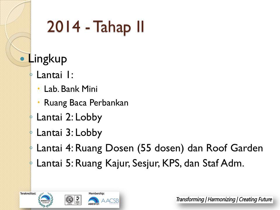 2014 - Tahap II Lingkup ◦ Lantai 1:  Lab.