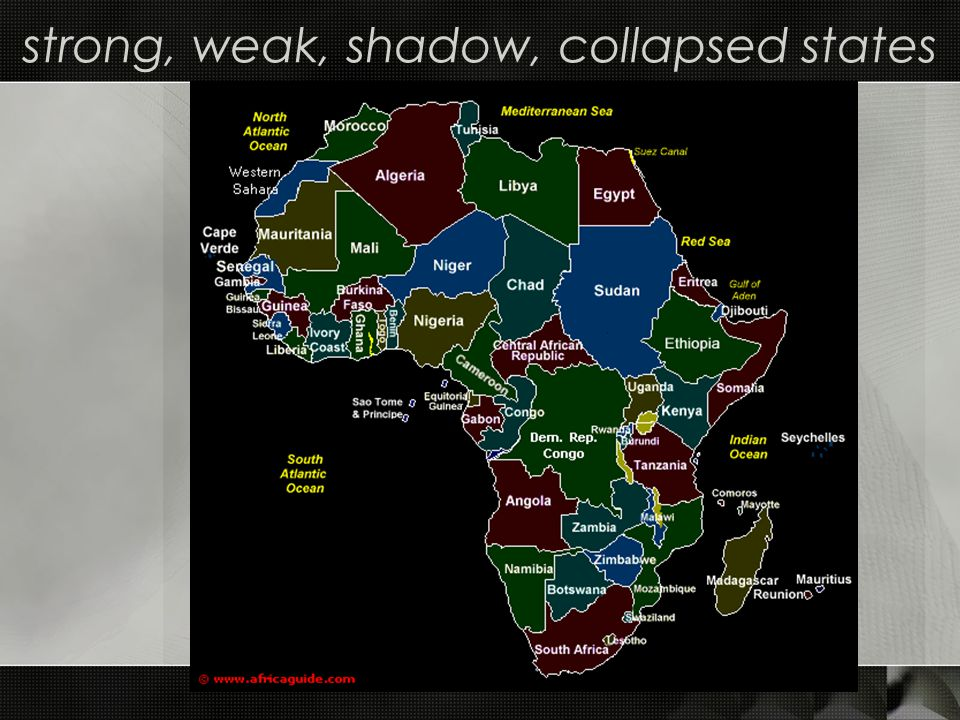 strong, weak, shadow, collapsed states