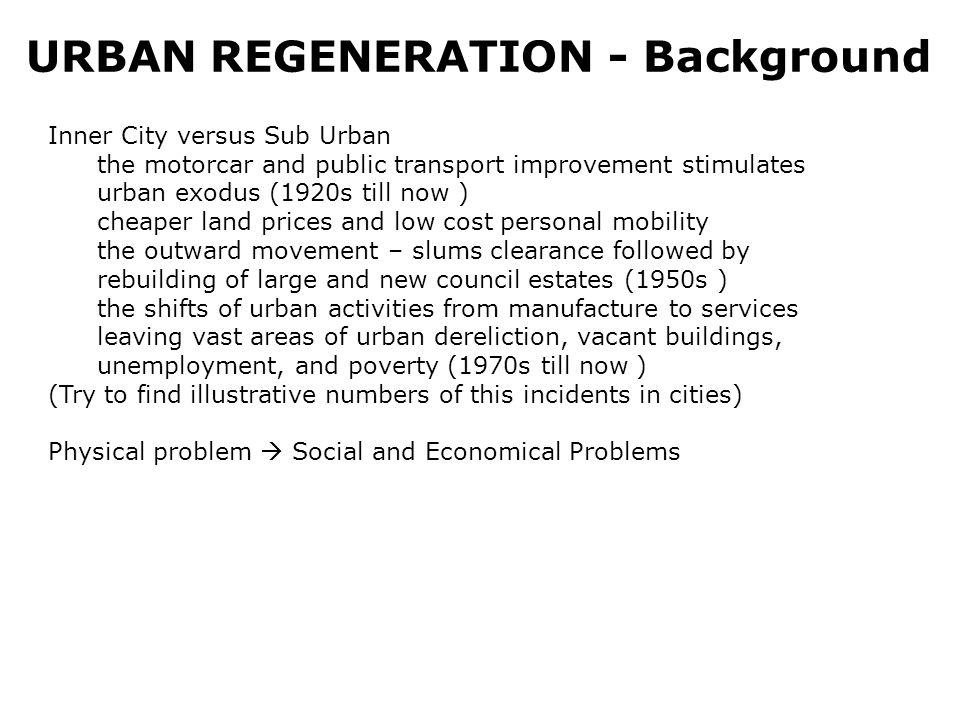 URBAN REGENERATION - Motif Regions Limitations of land (i.e.