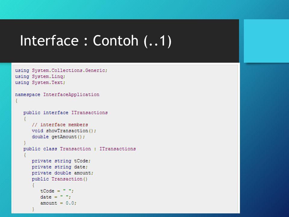 Interface : Contoh (..1)