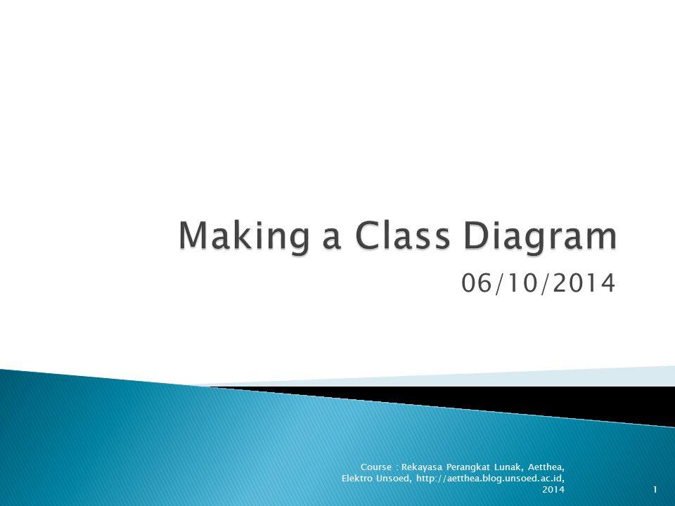 06/10/2014 Course : Rekayasa Perangkat Lunak, Aetthea, Elektro Unsoed, http://aetthea.blog.unsoed.ac.id, 20141