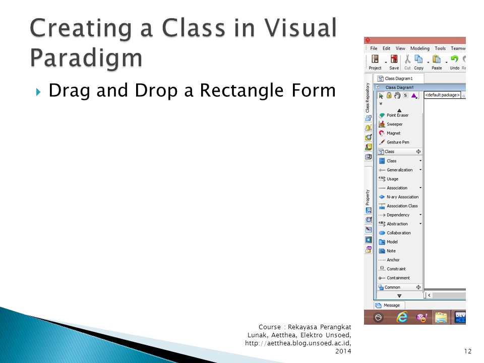  Drag and Drop a Rectangle Form Course : Rekayasa Perangkat Lunak, Aetthea, Elektro Unsoed, http://aetthea.blog.unsoed.ac.id, 201412