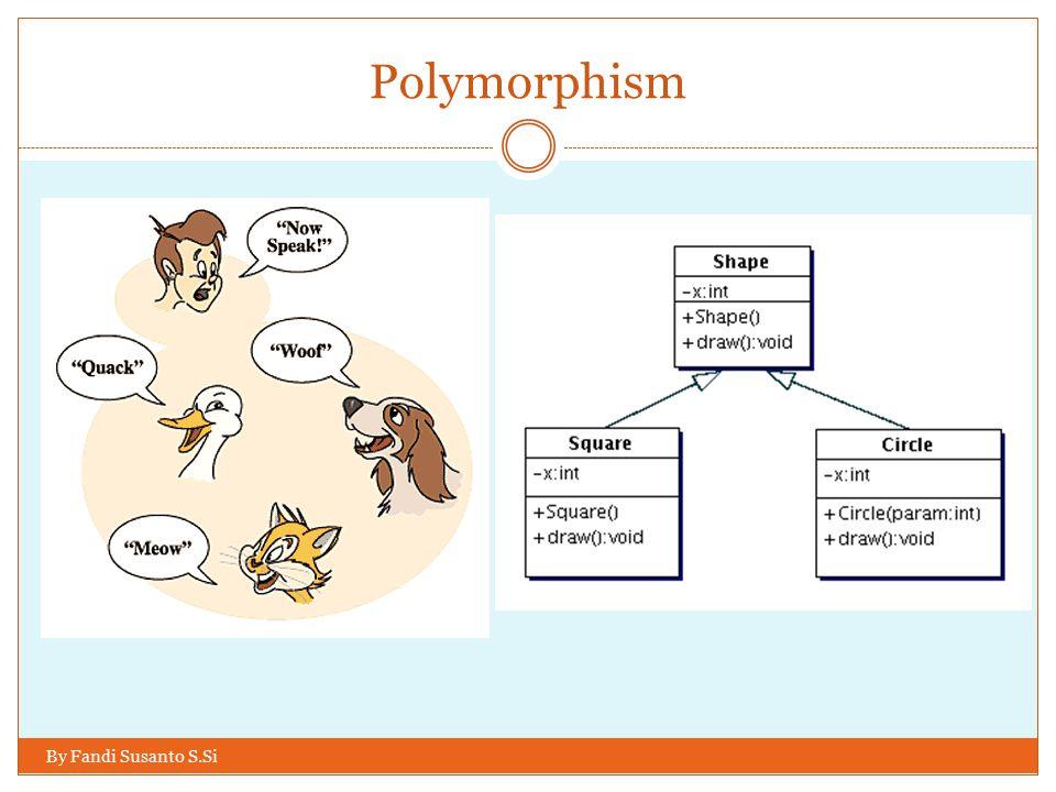 Polymorphism By Fandi Susanto S.Si