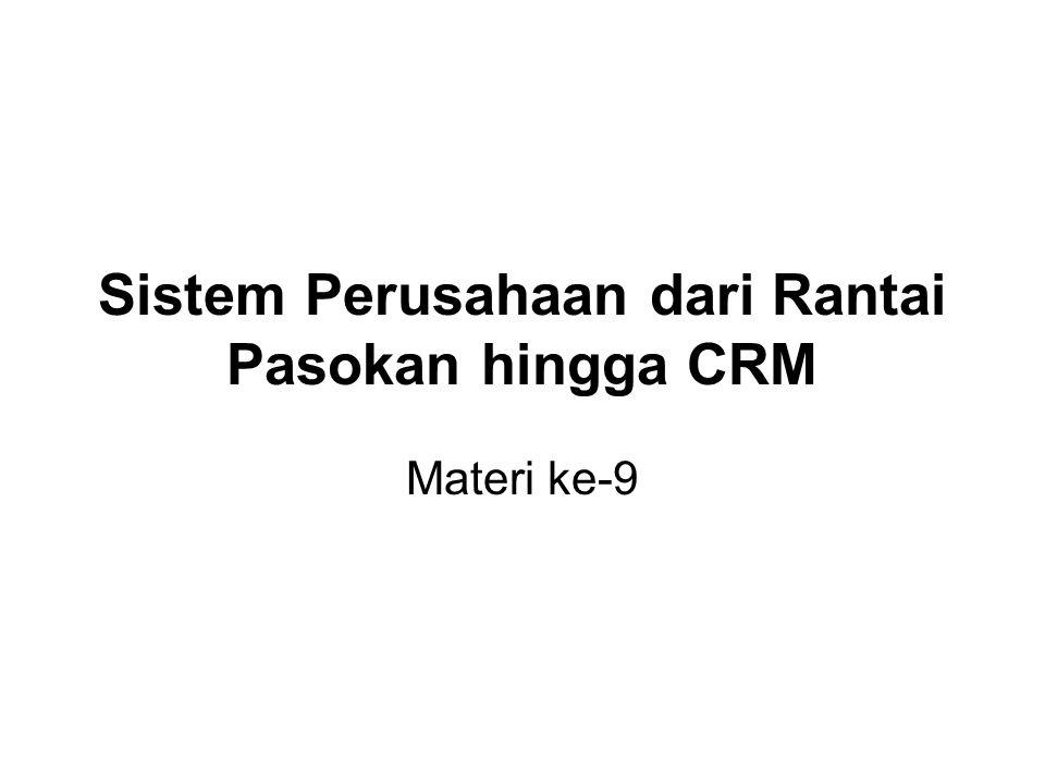 Sistem Perusahaan dari Rantai Pasokan hingga CRM Materi ke-9