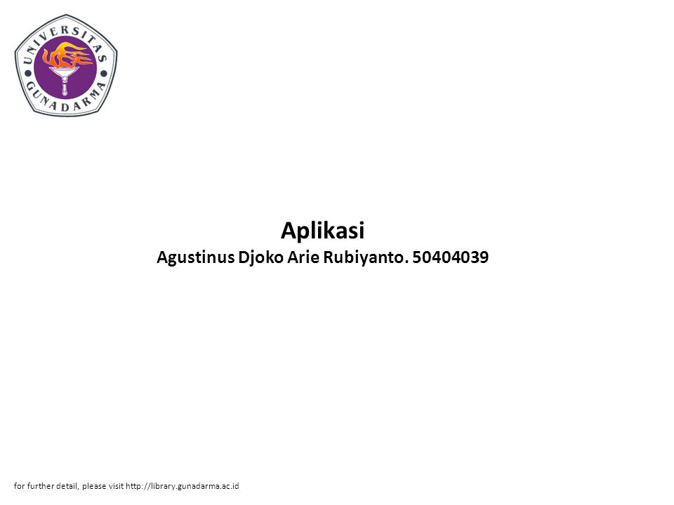 Abstrak ABSTRAKSI Agustinus Djoko Arie Rubiyanto.