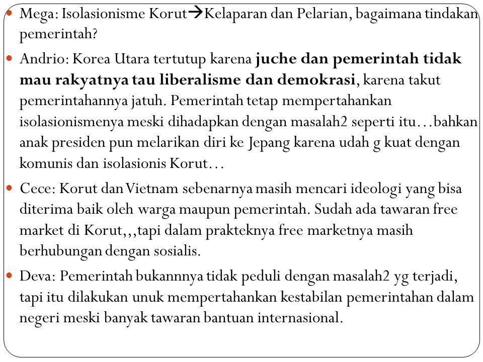 Mega: Isolasionisme Korut  Kelaparan dan Pelarian, bagaimana tindakan pemerintah.