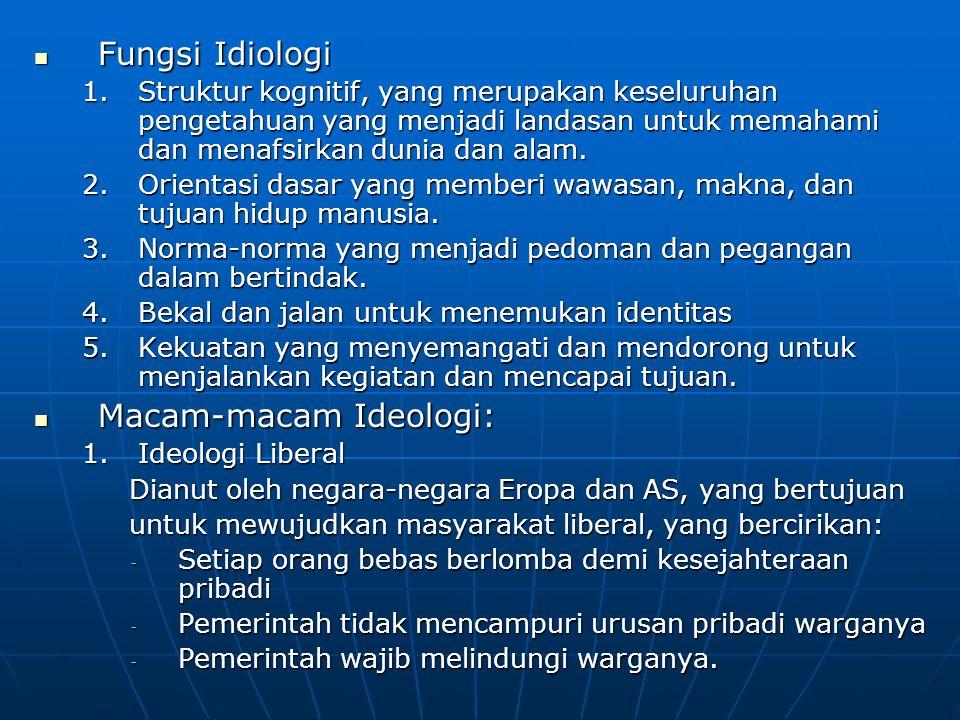  Ideologi Pancasila Sebagai suatu ideologi bangsa dan negara Indonesia, Pancasila pada hakekatnya bukan hanya merupakan suatu hasil perenungan atau pemikiran seseorang atau sekelompok orang sebagaimana ideologi- ideologi di dunia, Namun Pancasila diangkat dari nilai-nilai adat-istiadat, nilai-nilai kebudayaan serta nilai religius yang terdapat dalam pandangan hidup masyarakat Indonesia sebelum membentuk negara.