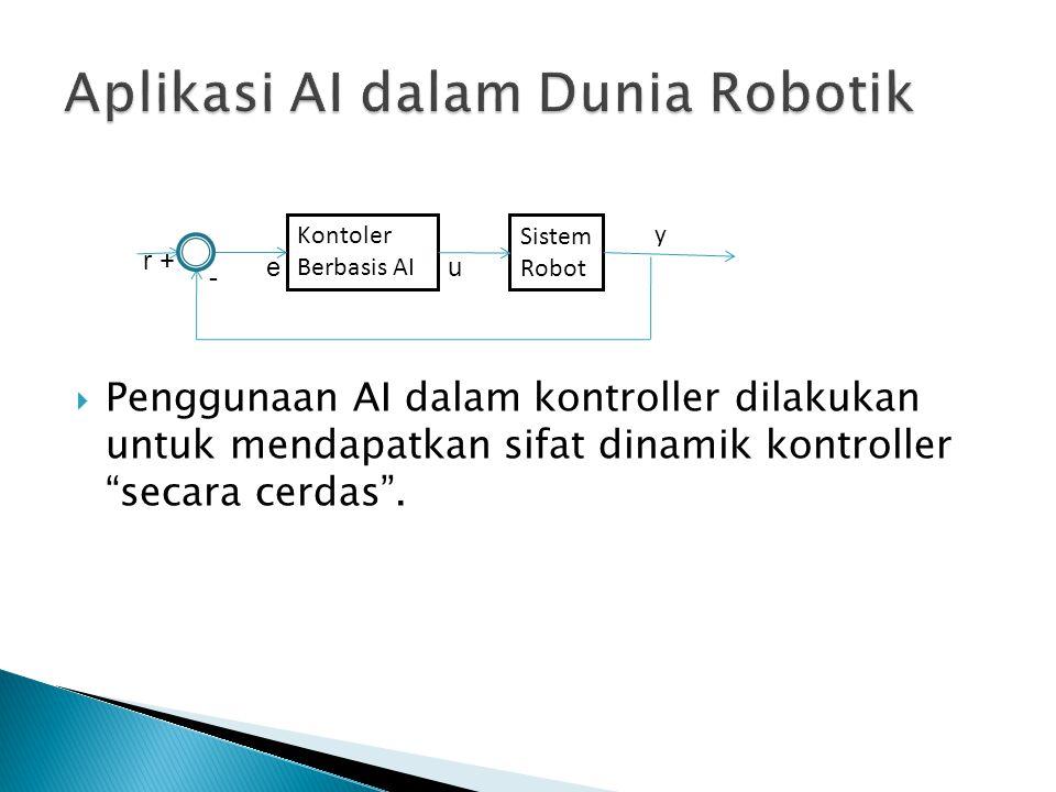""" Penggunaan AI dalam kontroller dilakukan untuk mendapatkan sifat dinamik kontroller """"secara cerdas"""". Kontoler Berbasis AI Sistem Robot y r + - eu"""
