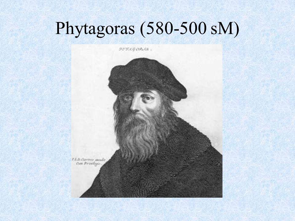 Phytagoras (580-500 sM)