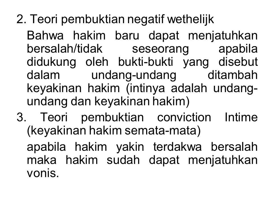 4.Teori pembuktian Keyakinan Hakim yang didasarkan pada alasan-alasan yang logis.