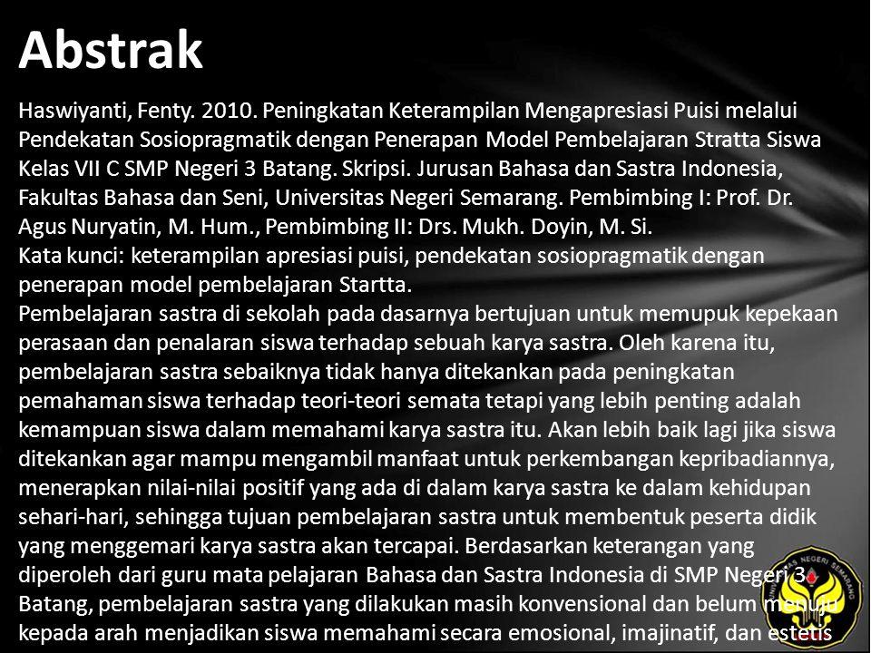 Abstrak Haswiyanti, Fenty.2010.