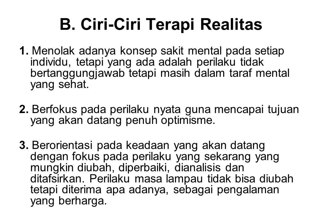 B.Ciri-Ciri Terapi Realitas 1.