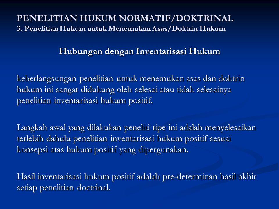 PENELITIAN HUKUM NORMATIF/DOKTRINAL 3.