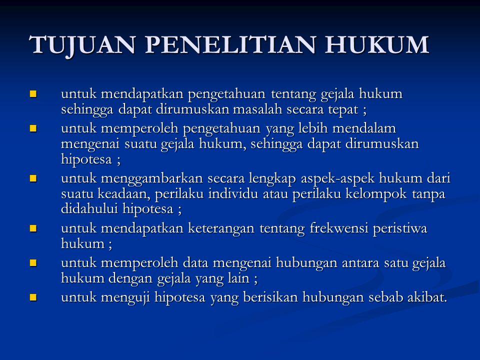 PENELITIAN HUKUM NORMATIF/DOKTRINAL 5.