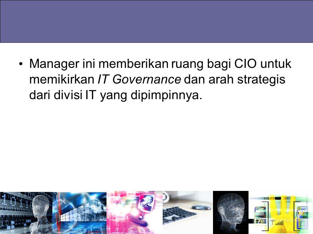 Manager ini memberikan ruang bagi CIO untuk memikirkan IT Governance dan arah strategis dari divisi IT yang dipimpinnya.