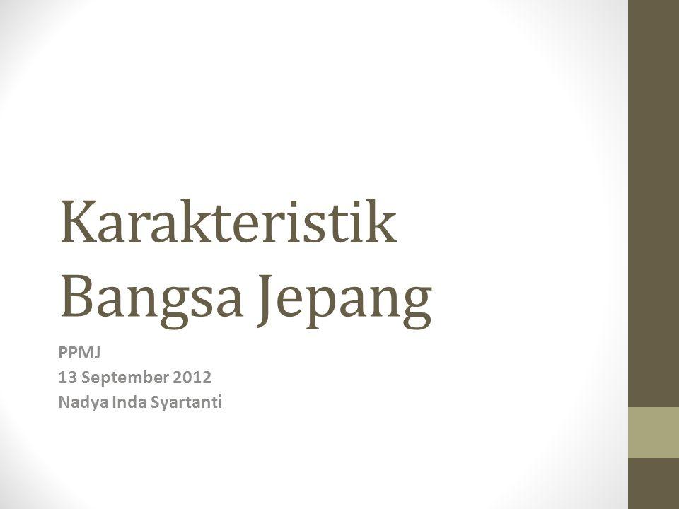 PENDAHULUAN Kepribadian Bangsa Indonesia dan Jepang