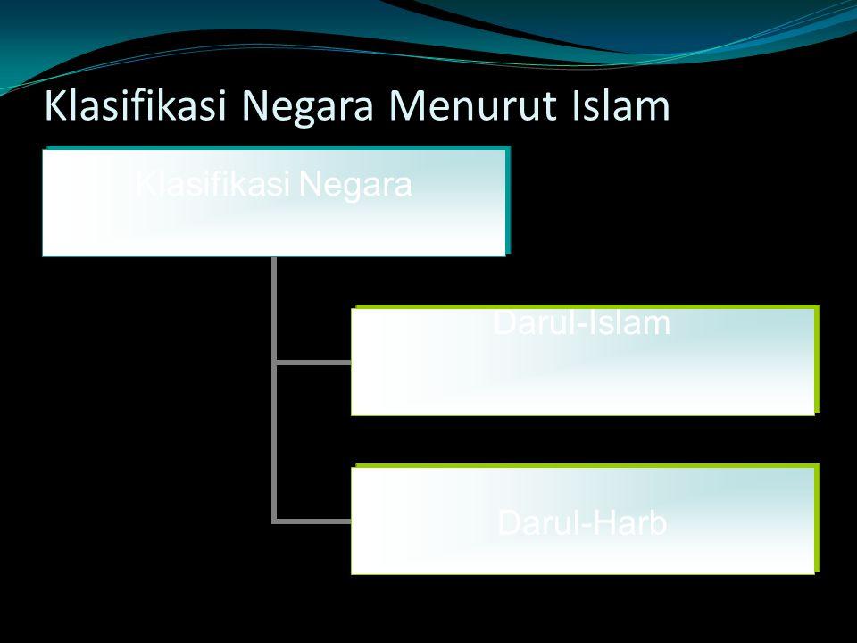 Klasifikasi Negara Menurut Islam Klasifikasi Negara Darul-Islam Darul-Harb