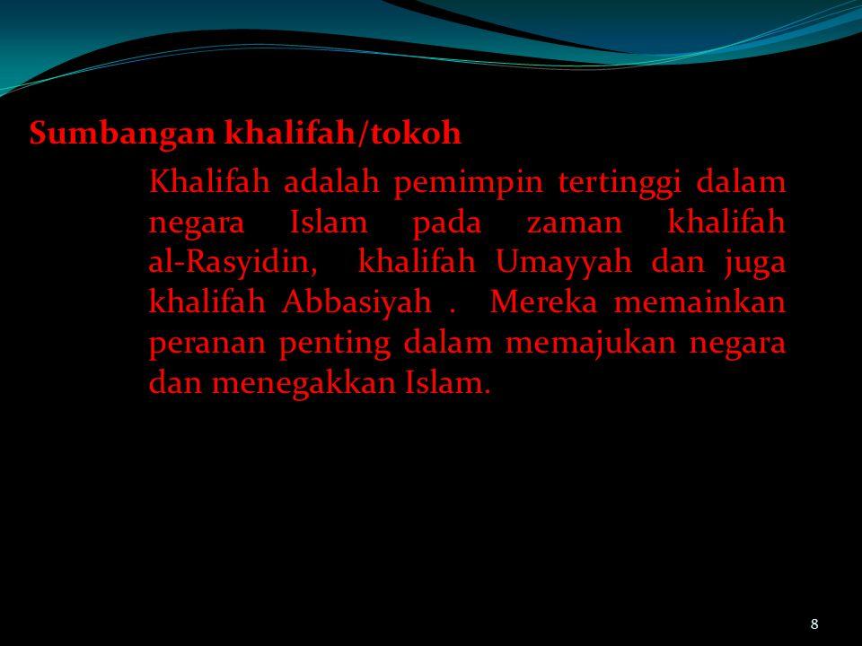 Masa Abu Bakar As-Shiddiq Dipilih  Jalan Musyawarah Terbatas antara Kaum Muhajirin dan Anshor Cikal bakal perkembangan politik kekuasaan antara kelompok-kelompok.