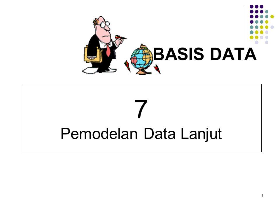 1 BASIS DATA 7 Pemodelan Data Lanjut