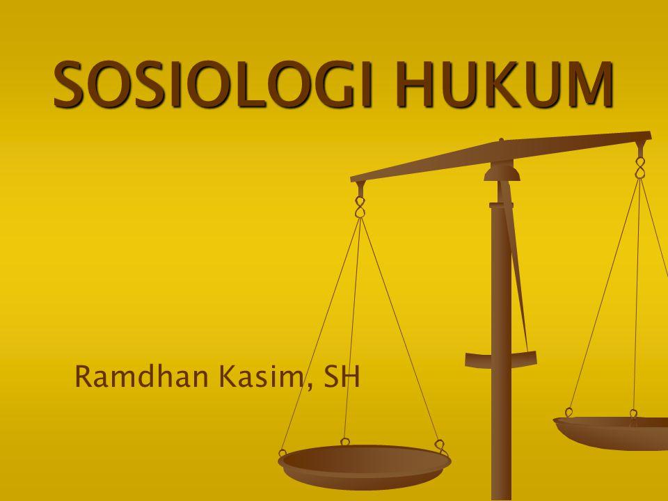 ARTI SOSIOLOGI HUKUM Ilmu pengetahuan ttg interaksi manusia yg berkaitan dg hukum dlm kehidupan bermasyarakat.
