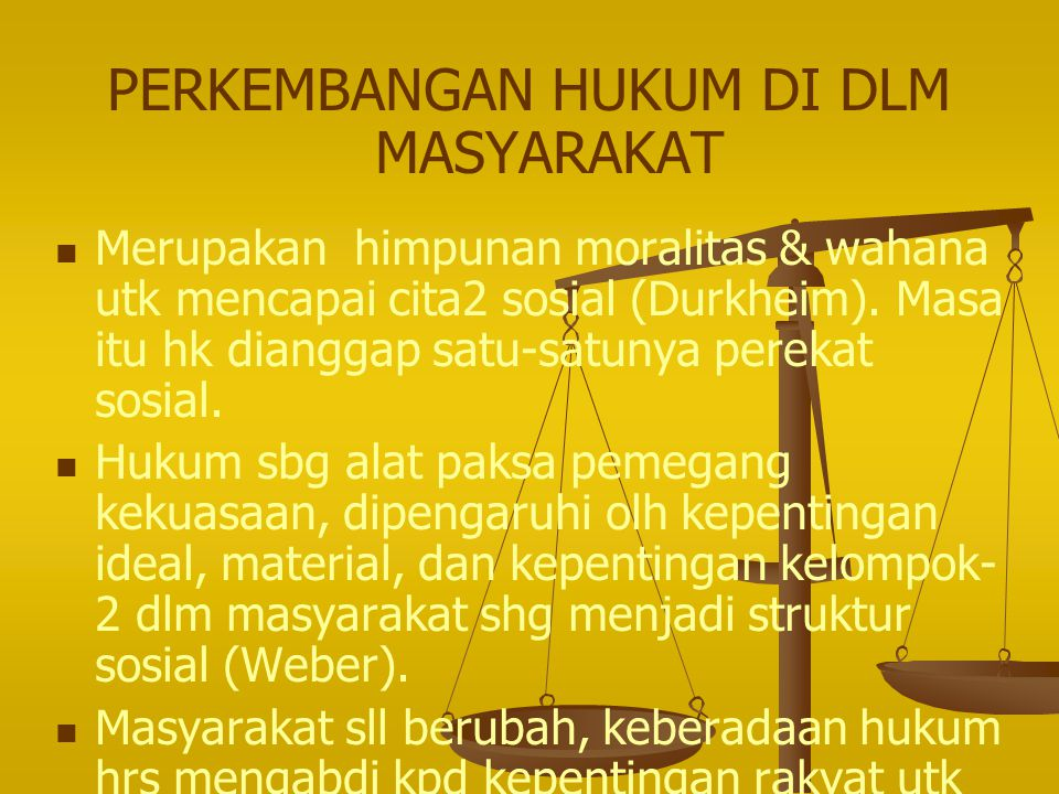 INTERDEPENDENSI HUKUM 1. Hukum dg Organisasi. 2. Hukum & keadilan sosial. 3. Hukum & kekuasaan.