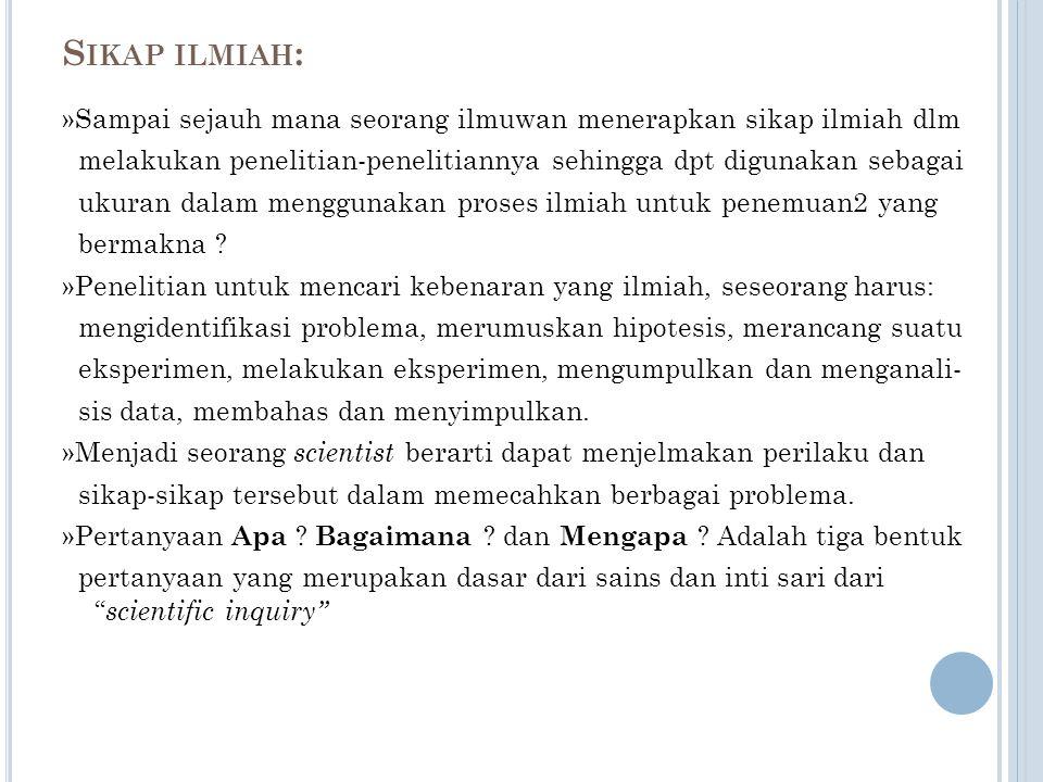P ERKEMBANGAN KESADARAN (W URYADI, 1971) 1. KESADARAN AKAN ADANYA GEJALA 2. KESADARAN AKAN ADANYA PROBLEMA 3.KESADARAN AKAN ADANYA PEMECAHAN PROBLEM 4