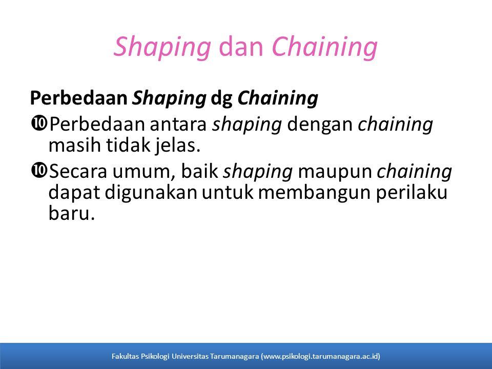 Shaping dan Chaining Perbedaan Shaping dg Chaining  Perbedaan antara shaping dengan chaining masih tidak jelas.