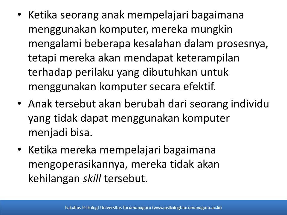 PRINSIP-PRINSIP OPERANT CONDITIONING Fakultas Psikologi Universitas Tarumanagara (www.psikologi.tarumanagara.ac.id)