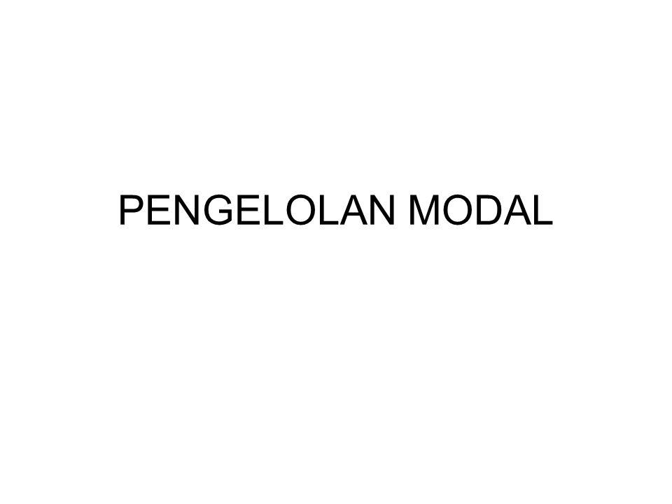 Modal Aktif Modal Lancar Modal Pasif Masa Pakai Modal Tetap Tetap Tak Berwujud Tetap Berwujud 1