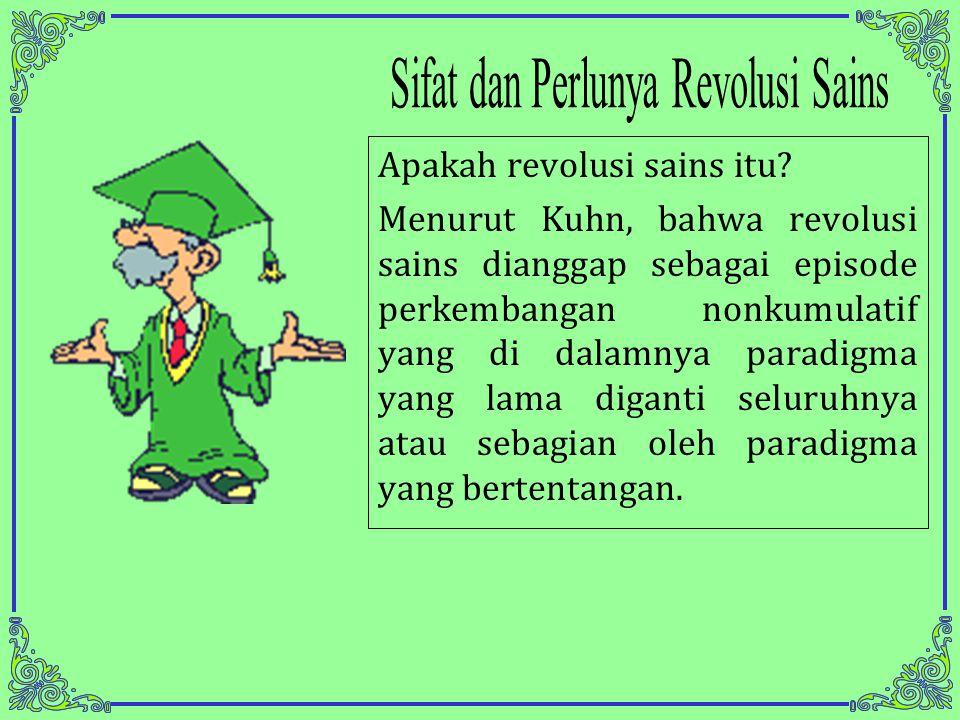 Apakah revolusi sains itu.
