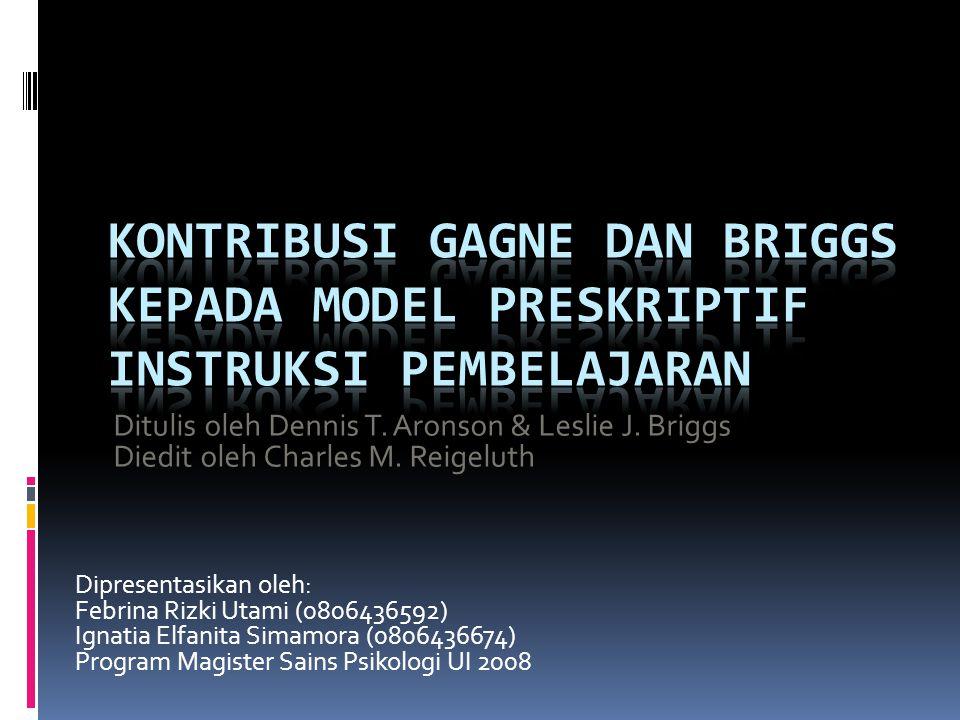 Dipresentasikan oleh: Febrina Rizki Utami (0806436592) Ignatia Elfanita Simamora (0806436674) Program Magister Sains Psikologi UI 2008 Ditulis oleh Dennis T.