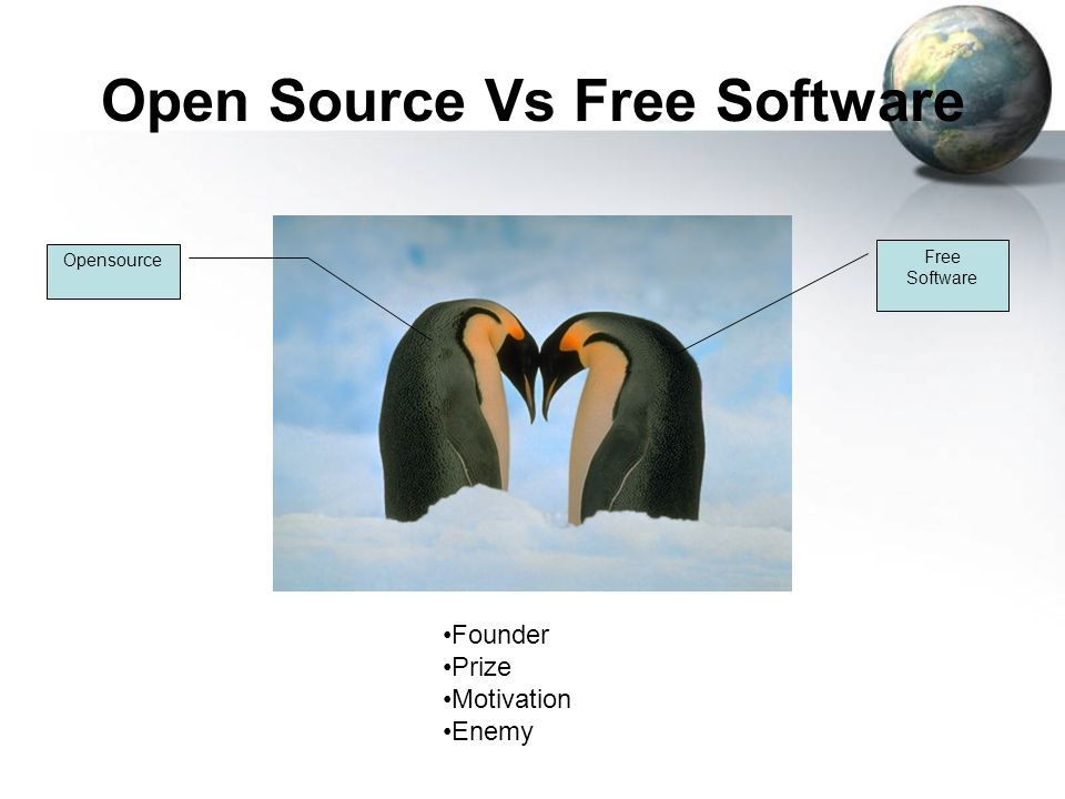 Open Source Vs Free Software Founder Prize Motivation Enemy Free Software Opensource