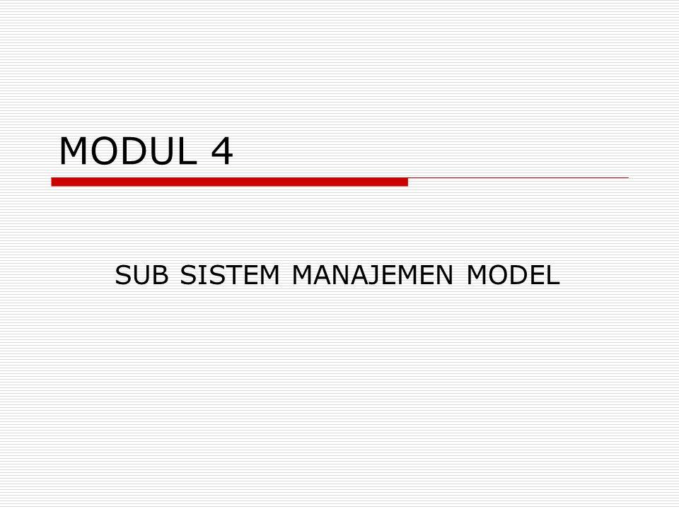 MODUL 4 SUB SISTEM MANAJEMEN MODEL