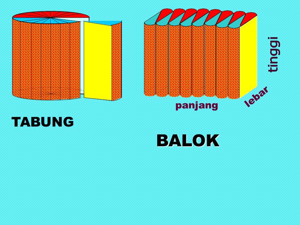 panjang lebar TABUNG BALOK