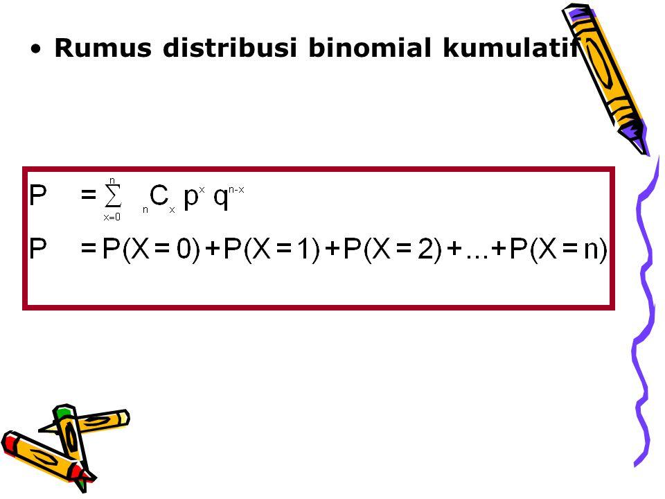 Rata-rata, varians, dan simpangan baku distribusi binomial 1.Rata-rata