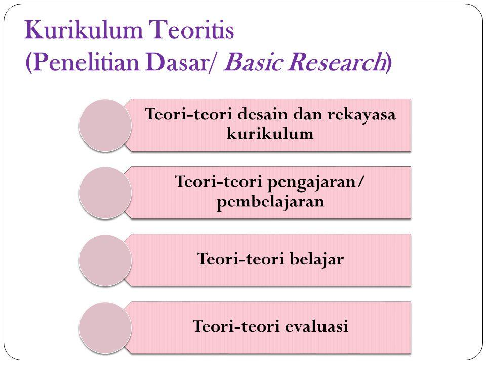 Kurikulum Praktis (Penelitian Terapan dan Evaluatif)