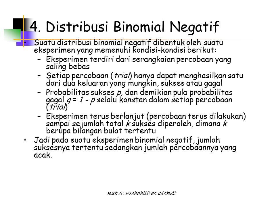 Bab 5.Probabilitas Diskrit 4.