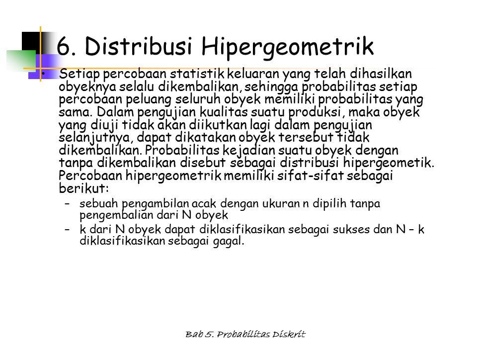 Bab 5.Probabilitas Diskrit 6.
